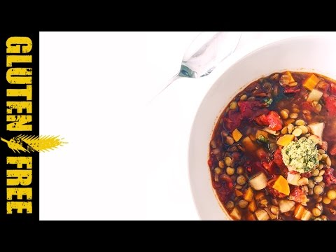 How to make delicious Italian lentil soup - gluten free food