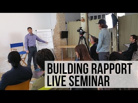 5 Ways to Build Rapport Free Training - NLP Live Seminar with Demonstration