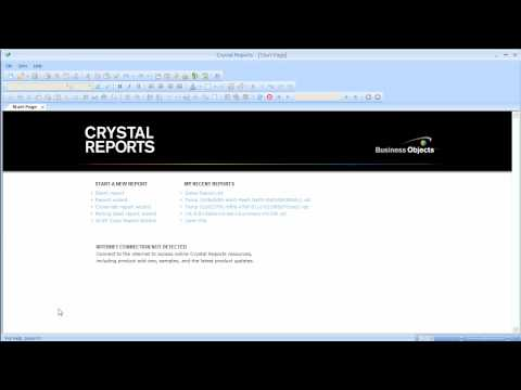 Crystal Reports - How To - Connecting to your SAP Database