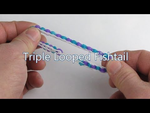 How to make the Triple Looped Fishtail bracelet on the Rainbow Loom