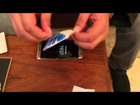 Samsung Galaxy S7 Edge Tempered Glass Screen Protector Installation Guide