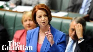 Julia Gillard misogyny speech voted most unforgettable Australian TV moment: watch in full