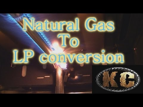 Natural gas to LP conversion on Kitchen Oven