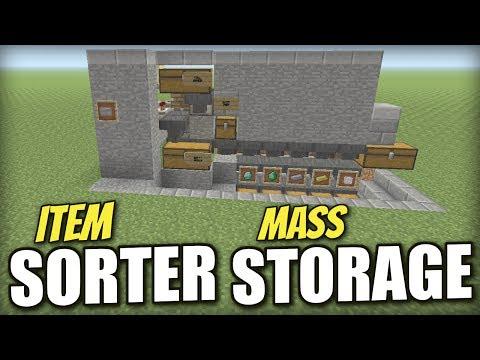 Minecraft PS4 - ITEM SORTER [ MASS STORAGE ] Redstone Tutorial - PE / Xbox / PS3 / Wii U