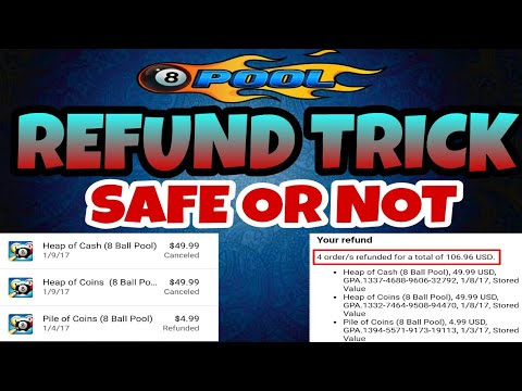 8 Ball Pool Refund Trick 2018 || Refund Trick Is Safe Or Not || EXPLAINED !