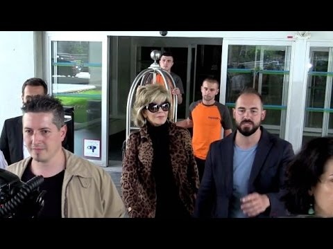 EXCLUSIVE: Jane Fonda arriving at Nice airport for the 2015 Cannes  film festival