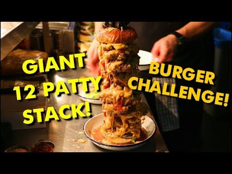 Giant Burger Stack Challenge from The Beefy Boys