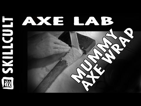 Axe Lab, Mummy Axe Handle Wrap, Muslin, Cheese, Lime and Borax