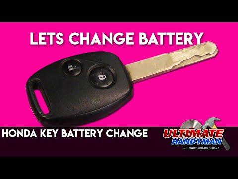 Honda key battery change