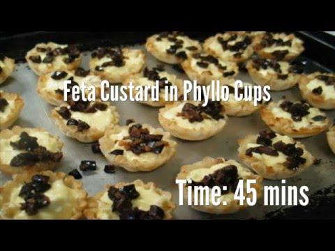 Feta Custard in Phyllo Cups Recipe