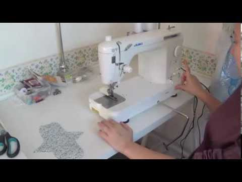 how to make a cloth pad with a sewing machine (part 1)