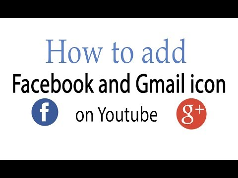 How to add Facebook and Gmail icon on Youtube - Hindi