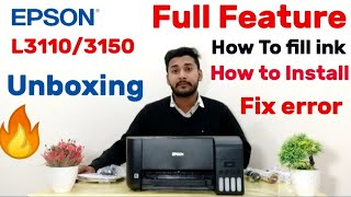 EPSON L3050 EcoTank printer - Unboxing and ink installation