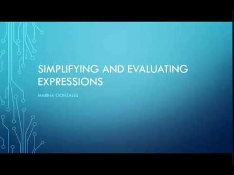 Intro to expressions- GED math