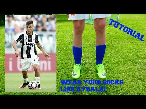 How to wear football socks like a pro | Dybala style | Freestyleskills32