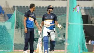 Srilanka Captain Thisara Perera hiting big sixes while practicing at Gaddafi Stadi