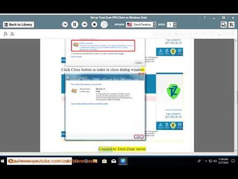 Set up Trust.Zone VPN Client on Windows Vista