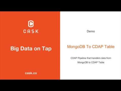 Learn CDAP: MongoDB to CDAP Table