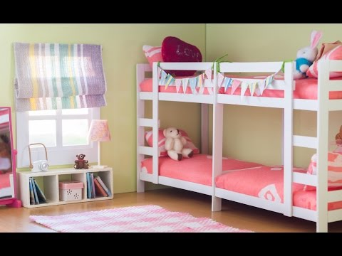 DIY Dollhouse - Miniature Bunk Bed Room Set Tutorial - Nendoroid, Dolls & Action figures