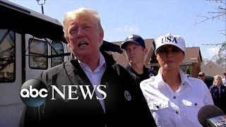 Trump calls Hurricane Michael aftermath