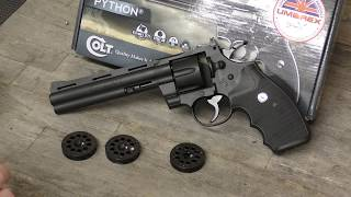 UMAREX Smith & Wesson 586 CO2 Pellet Revolver UNBOXING
