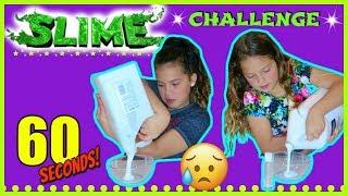 """60 SECOND SLIME CHALLENGE """"SISTER VS SISTER """" SISTER FOREVER"""