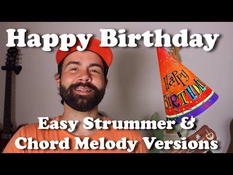 Happy Birthday - Easy Beginner Strummer & Chord Melody Versions - Ukulele Tutorial