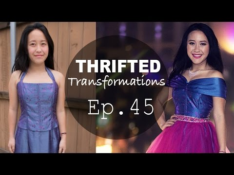 Sewing a Party Dress | Thrifted Transformations Ep. 45