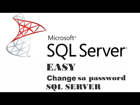 Change password sa SQL SERVER