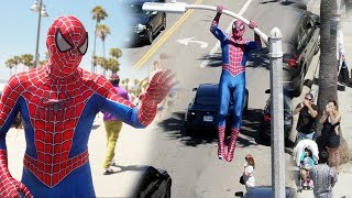 Download Spider-Man In Real Life Public Stunt Video
