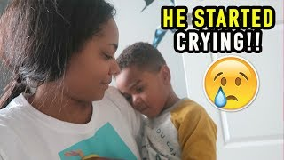 HE STARTED CRYING!!