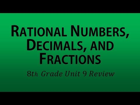 Rational Numbers, Decimals, and Fractions (8th Grade Unit 9 Review)