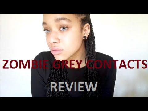 MesmerEyez Zombie Grey Contacts Review | PierceTheLittlegirl