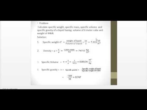 Fluid mechanics/ how to find density,specific weight,specific volume,specific gravity/urdu/hindi