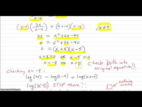 Solving log equations with logs on both sides