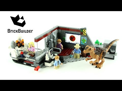 Lego Jurassic World 75932 Jurassic Park Velociraptor Chase - Lego Speed build