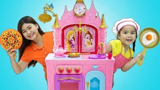 Download Suri Pretend Play w/ Kids Food Toys and Princess Kitchen Play Set Video