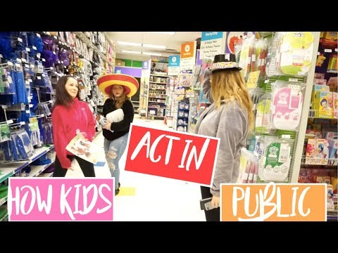 How kids act in public!!