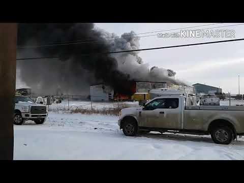 Industrial Park Fire Kindersley Sk November 7th 2017