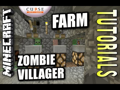 Minecraft PS4 - ZOMBIE VILLAGER FARM - How To - Tutorial ( PS3 / XBOX )