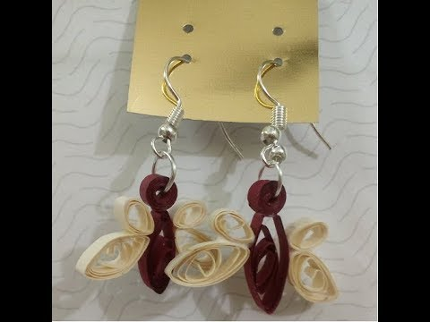 Quilled Butterfly Earrings