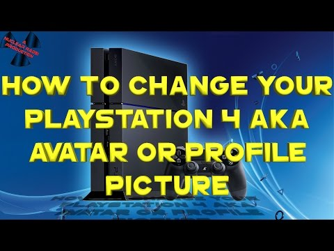 How to Change your Playstation 4 gamer picture AKA Avatar or to a Profile Picture!