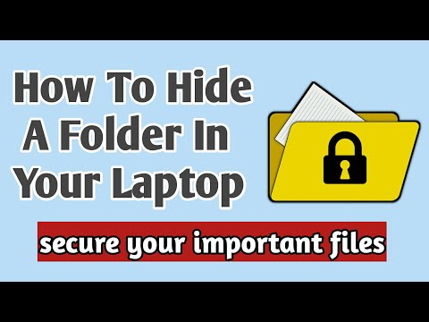 how to hide a folder in laptop