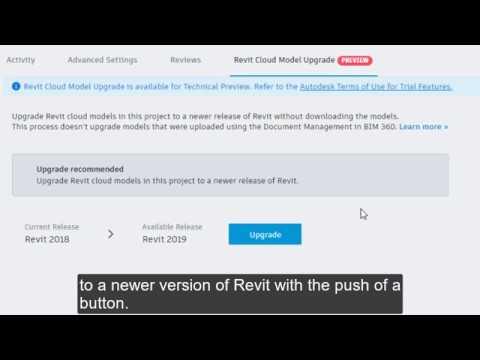 Revit 2019.2: Cloud Model Upgrade