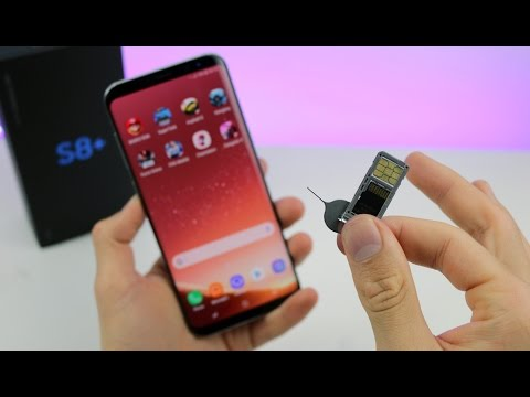 Samsung Galaxy S8: Insert SIM Card and Micro SDCard within 1 Minute