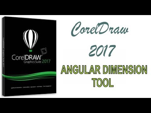 COREL DRAW 2017 USING ANGULAR DIMENSION TOOL HINDI URDU PART 27