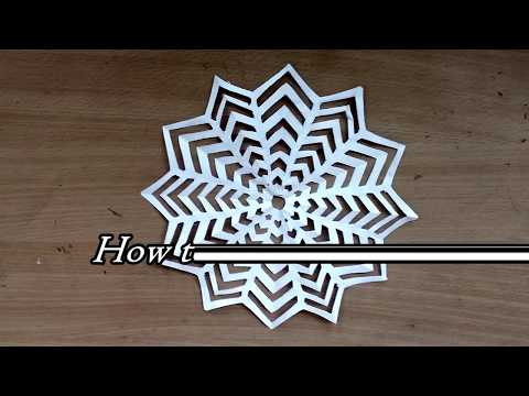 Easy Paper Snowflake Craft - how to make paper snowflakes easy
