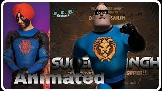 ਸੁਪਰ ਸਿੰਘ : Super Singh ANIMATED/CARTOON Trailer I Diljit Dosanjh I Sonam Bajwa-jcb vines