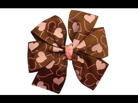 Easy Pinwheel Hair Bow Tutorial with Template