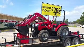 Mahindra 5555 4w/d tractor with a loader Videos & Books